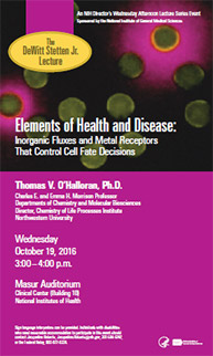 2016 Stetten Lecture poster - Elements of Health and Disease