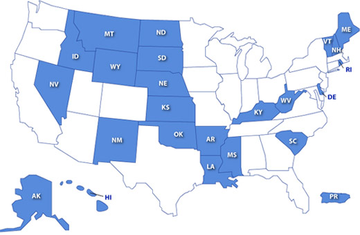 IDeA supports faculty development and enhancement of the research infrastructure at institutions located in Alaska, Arkansas, Delaware, Hawaii, Idaho, Kansas, Kentucky, Louisiana, Maine, Mississippi, Montana, Nebraska, Nevada, New Hampshire, New Mexico, North Dakota, Oklahoma, Puerto Rico, Rhode Island, South Carolina, South Dakota, Vermont, West Virginia and Wyoming