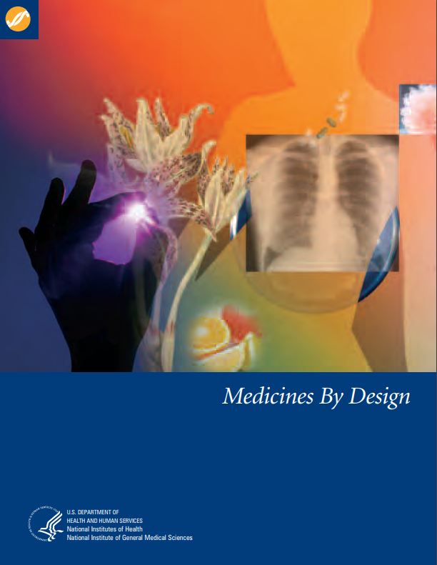 The cover of Medicines by Design booklet.
