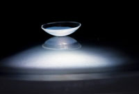 Contact lens. Credit: Peter Mallen, Massachusetts Eye and Ear Laboratory/Kohane Laboratory, Boston Children's Hospital.