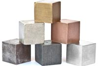 Different metals in cubes