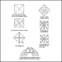 PAPER FOLDING FORTUNE TELLER INSTRUCTIONS | Paper | 200x200